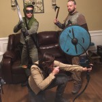 Green Arrow, Katniss, and Ragnar like to party together