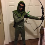 Awesome Green Arrow Costume made for Netto by my mother-in-law